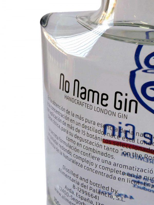 NO NAME GIN | ALIMENTARIA DEL PALANCIA | LONDON GIN PREMIUM
